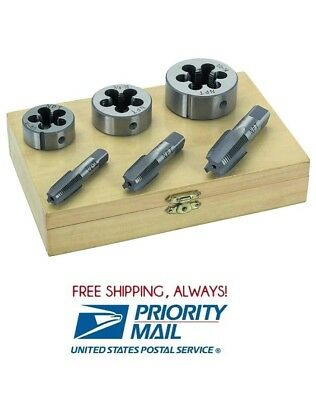 6 Pc 14 38 12 Inch High Carbon Steel Pipe Tap And Die Set Free Shipping