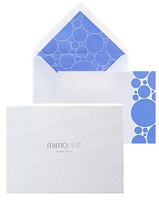 MIMOLINE Luxury Notecards on Crane's paper: FONTAINEBLEAU (color: - Sky Crane