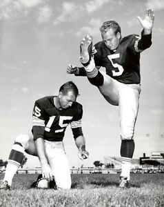 BART-STARR-AND-PAUL-HOURNING-GREEN-BAY-PACKERS-HALL-OF-FAMERS-photo-8-x10