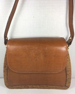 BELLEROSE Vintage Brown Faux Leather Structured Shoulder/Crossbody Bag