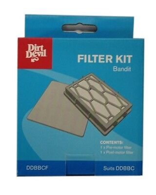 1-post-motor-filter (Dirt Devil BANDIT BAGGED CYLINDER FILTER 1 Pre & 1 Post-Motor Filter *USA Brand)