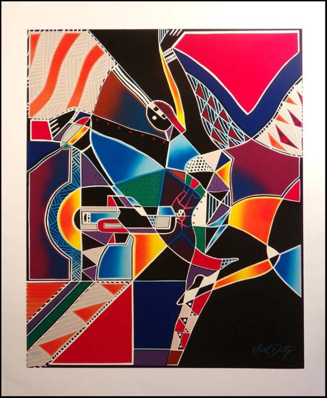 "Neal Doty ""An Expression of Jazz"" Hand Signed Serigraph paper Make Offer! L@@K!"