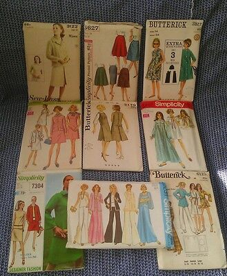 Lot of 9 Vintage UNCUT sewing patterns