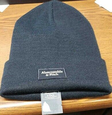 MEN'S ABERCROMBIE & FITCH BLUE BEANIE HAT ~ ONE SIZE