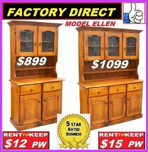 NEW Buffet Hutch Lead Light Solid. All Sizes. RENT KEEP $9.25 PW Ipswich Region Preview