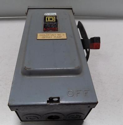 Square D 30a 600v Heavy Duty Safety Switch Hu361rb Series E2