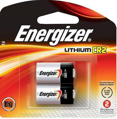 Energizer CR2 Photo Lithium 3v Camera Batteries 2-pk *NEW Sealed* Exp.2024
