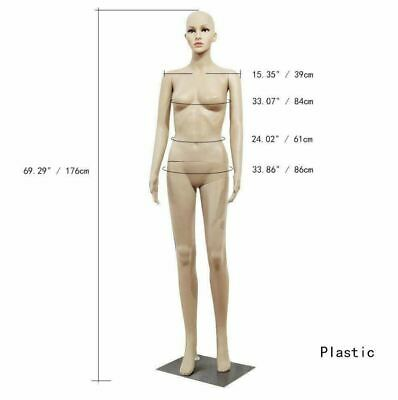 Female Mannequin Clothing Realistic Display Head Turns Dress Form W Base