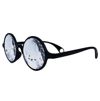 Rave Glasses Clear Diffiractive Lens Classic Retro STYLE Unisex Latest (Latest Mens Glasses Styles)