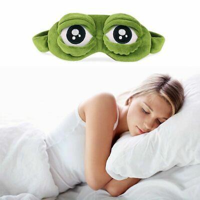 Funny Pepe The Frog Sad frog 3D Eye Mask Cover Cartoon Plush Sleeping mask (S60)