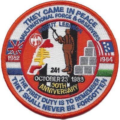 USMC Marine Corps Beirut Lebanon 30th Anniversary Patch NEW!!!