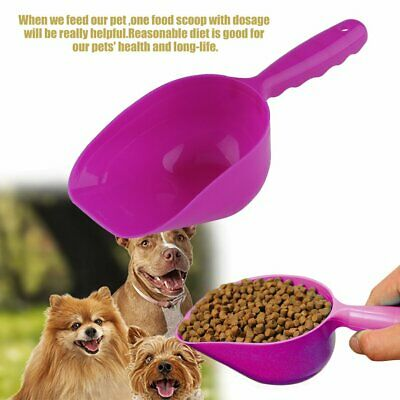 Cute Pet Dog Cat Food Feeder Shovel Scoop Tool Supplies Small Plastic Spoon EA