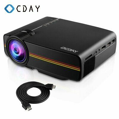 Mini LED Smart Home Theater Projector 4K 1080P FHD 3D VGA HDMI Video Movie US DS