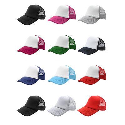 Best Summer Plain Trucker Mesh Hat Snapback Blank Baseball Cap Adjustable sx Blank Trucker Hats