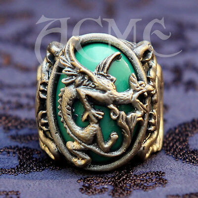 Dragon Griffin Ring Jack Sparrow Pirates Carribean Costume Depp ACME Brand for sale  Los Angeles