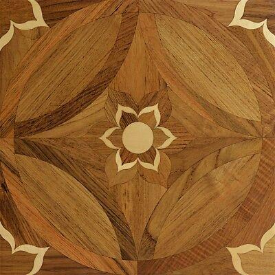 Teak Hardwood floor Wall Tile Medallion Parquet Floor wood f