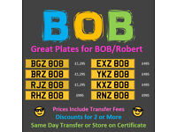 BOB Number Plates From £495 - Dateless Cherished Personal Registration Number Plates
