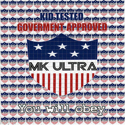 MK ULTRA  - perforated sheet BLOTTER ART psychedelic acid free paper