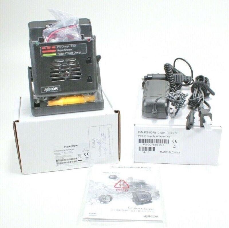 Harris M/A COM VC3000 Charger Jaguar P7100IP 7200 5100 P800 P801 & Power Adaptor