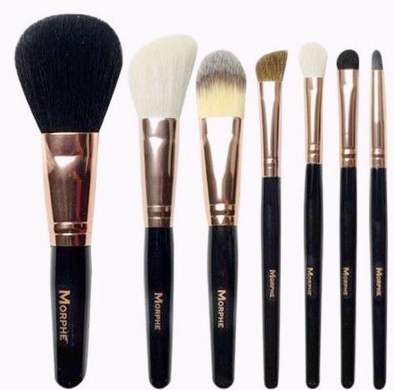 New! MORPHE 701 Rose 7 Piece SET & CASE Make Up Brushes Wow!!✨✨