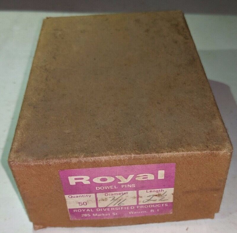 """Pack of 50 - 7/16"""" x 2-1/2"""" Royal Dowel Pins Alloy Steel"""
