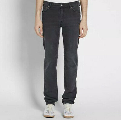 Acne Studios Blå Konst North Used Black Slim Fit Jeans - Black - Size 29 X 30