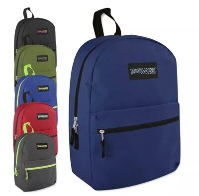 Wholesale Backpack (Lot of 24 Wholesale TrailMaker Classic 17 Inch Backpack in 6 Assorted)