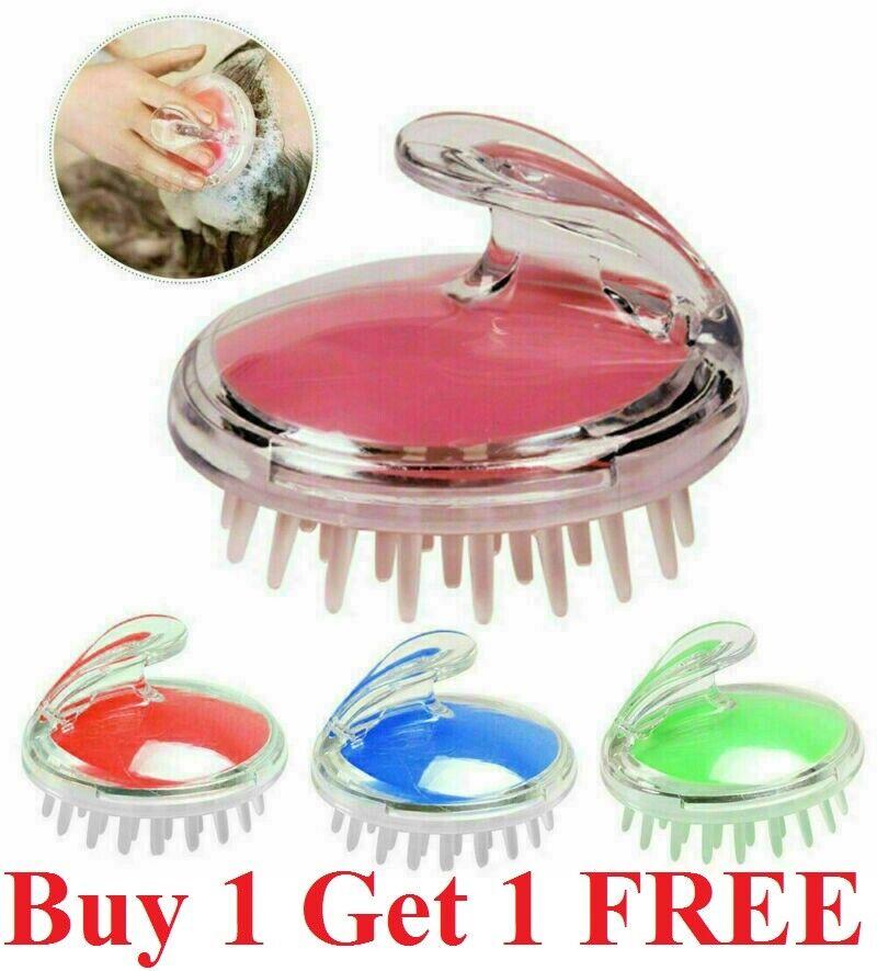 Silicone Massager Scalp Brush Shampoo Massage Comb Shower Head Hair Washing Kit Brushes & Combs