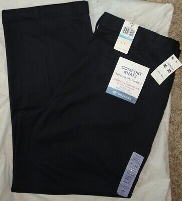 DOCKERS Mens COMFORT RELAXED-FIT NAVY PLEATED KHAKIS~Size 36 X 30~Pants Pleats Relaxed Fit Khakis