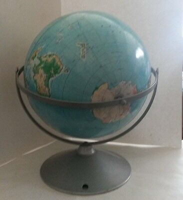 """Vintage AJ Nystrom Dual Axis 12"""" Structural Relief Globe 1949"""