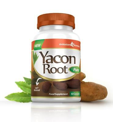 Yacon Root Pure 500mg 120 Weight Loss Diet Slimming Capsules Evolution Slimming