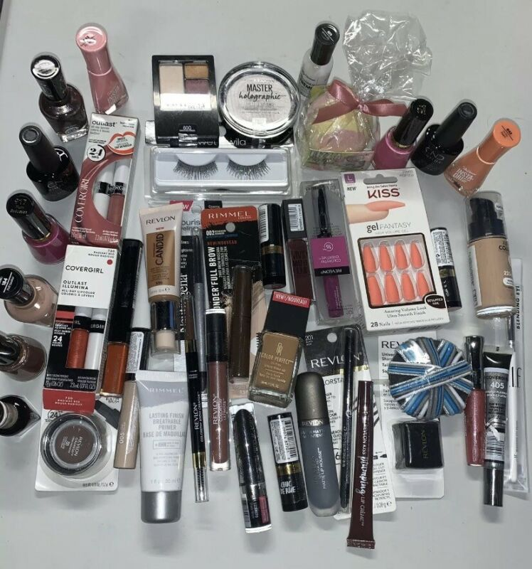 Wholesale Cosmetics Makeup Lot-50+pc Maybelline, Revlon,Rimmel,Cover G & More