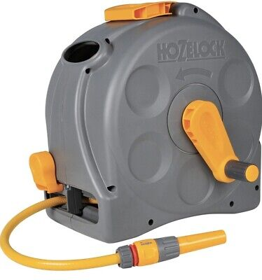 Hozelock 2-in-1 Reel 25 M Outside Strong Garden Water Hose Pipe Compact Wind Up