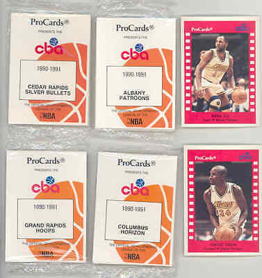 1990 91 Procards Cba Complete Factory Bagged Set  Anthony Mason  George Karl
