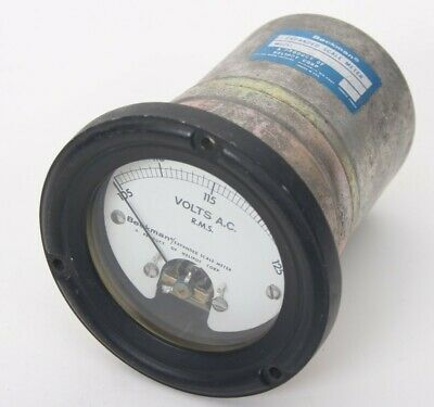Vintage Beckman Expanded Scale Meter Volts Ac R.m.s. 105-125 Model 026-3106-0