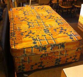 3/4 divan bed. base and mattress.