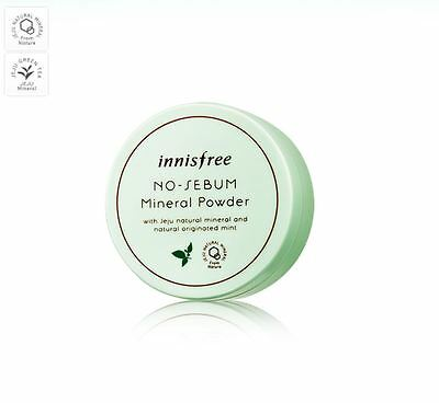 [Innisfree] No-Sebum Mineral Powder 5g with Jeju Natural Originated Mint