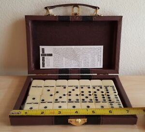 Double Six Dominoes Set of 28 With Metal Spin