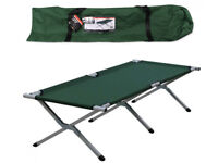 Camp Bed for sale. Single green (Milestone)