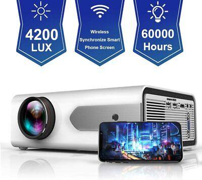 Full HD 1080P 4200 Lumens Wireless Mini Synchronize Smart Phone Projector HDMI