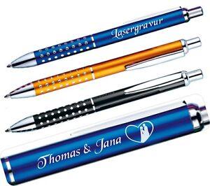 Kugelschreiber mit Gravur, Lasergravur, Wunschtext, Kuli, Text, Name, Neu  GP02