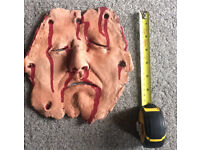 Professionally Hand-Made Halloween Horror Prop - Flayed Face 2