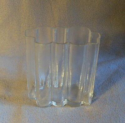 Glasvase Eisglas, Schweden, gemarkt Edenfalk Skruf EKB 9-1, Höhe 13 cm (6)