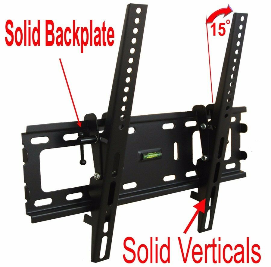 SLIM LCD LED PLASMA FLAT TILT TV WALL MOUNT BRACKET 24 30 32 37 42 46 47 50 55