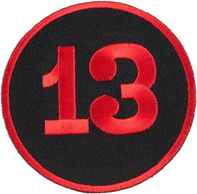 13 Red & Black Round Patch, Biker Sayings Patches