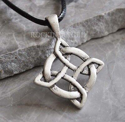 - Antique 925 Silver Plt Endless Celtic Knot Pendant Necklace, Ladies Mens Gift