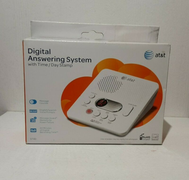 AT&T 1740 Digital Answering System With Time and Day Stamp - White.  F6