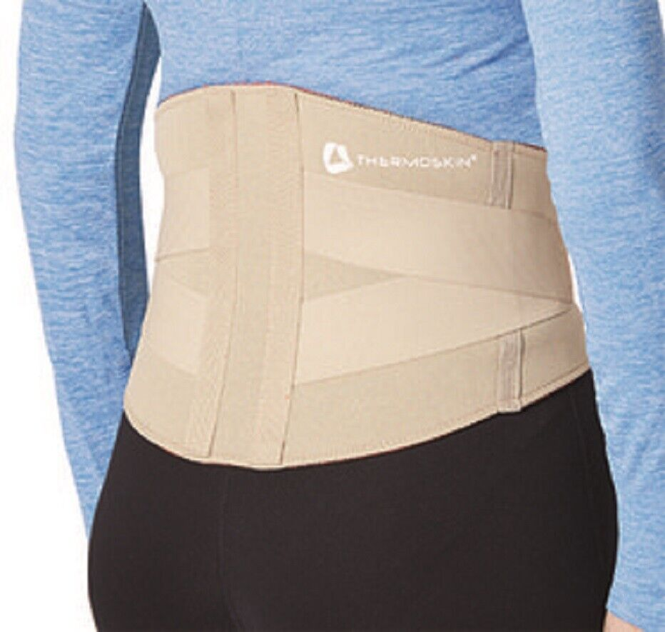 Thermoskin Back Lumbar Support Brace Back Wrap SMALL Trioxon lining With Straps Health & Beauty