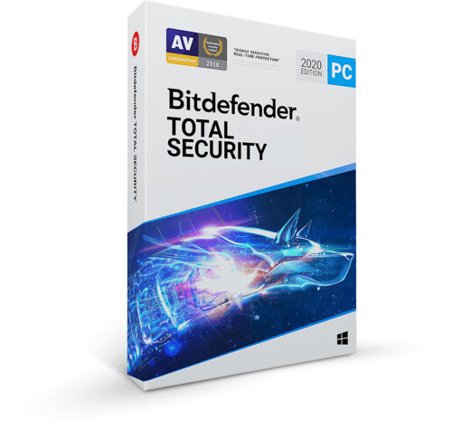 Bitdefender Total Security 2020 | 1 PC - 1 Year to 5 Years | Latest Version
