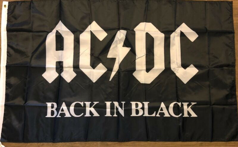 ACDC Flag3x5 Back In Black Banner Music Ac/dc Man Cave Highway To Hell